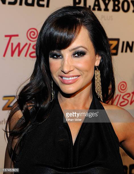 Adult film actress Lisa Ann appears during an autograph signing for Brazzers at the 2012 AVN Adult Entertainment Expo at The Joint inside the Hard...