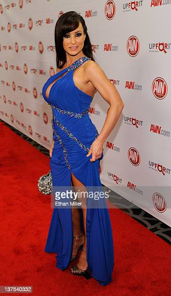 Adult film actress Lisa Ann arrives at the 29th annual Adult Video News Awards Show at the Hard Rock Hotel Casino January 21 2012 in Las Vegas Nevada
