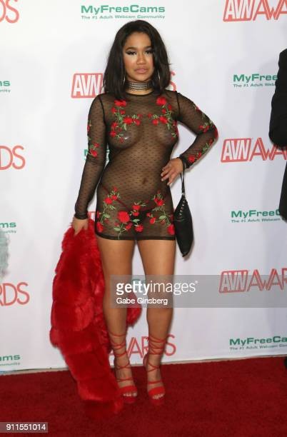 Adult film actress Loni Legend attends the 2018 Adult Video News Awards at the Hard Rock Hotel Casino on January 27 2018 in Las Vegas Nevada
