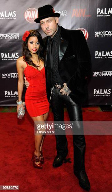 Adult film actress Lupe Fuentes and actor and music artist Evan Seinfeld arrive at the 27th annual Adult Video News Awards Show at the Palms Casino...