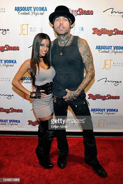 Adult film actress Lupe Fuentes and actor and recording artist Evan Seinfeld arrive at the Rolling Stone Hot Party at the Jet Nightclub at The Mirage...