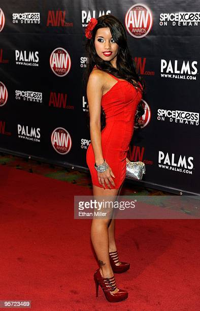 Adult film actress Lupe Fuentes arrives at the 27th annual Adult Video News Awards Show at the Palms Casino Resort January 9 2010 in Las Vegas Nevada