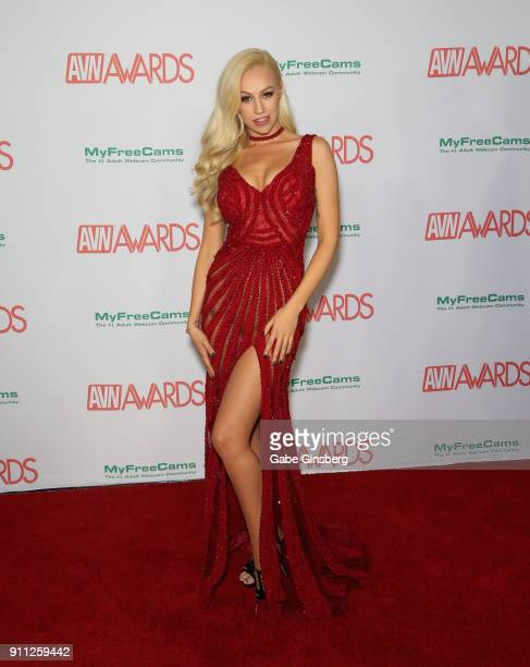 Adult film actress Lyra Law attends the 2018 Adult Video News Awards at the Hard Rock Hotel Casino on January 27 2018 in Las Vegas Nevada