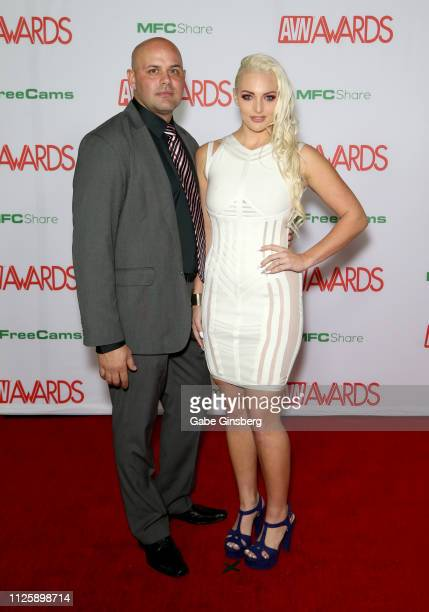 Adult film actress Macy Cartel and adult film actor Johnny Phoenix attend the 2019 Adult Video News Awards at The Joint inside the Hard Rock Hotel...