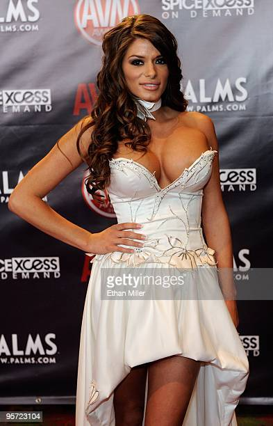 Adult film actress Madelyn Marie arrives at the 27th annual Adult Video News Awards Show at the Palms Casino Resort January 9 2010 in Las Vegas Nevada