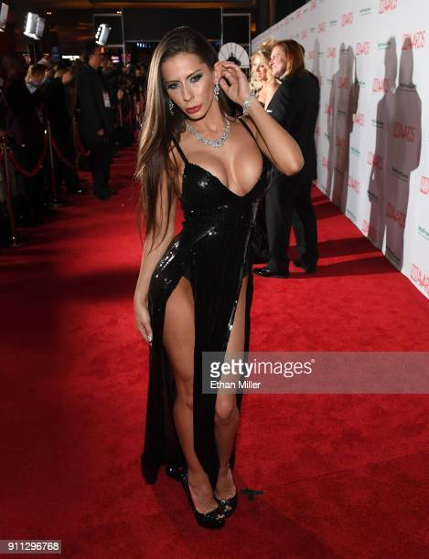 Adult film actress Madison Ivy attends the 2018 Adult Video News Awards at the Hard Rock Hotel & Casino on January 27, 2018 in Las Vegas, Nevada.