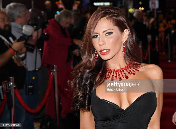 Adult film actress Madison Ivy attends the 2019 Adult Video News Awards at The Joint inside the Hard Rock Hotel Casino on January 26 2019 in Las...