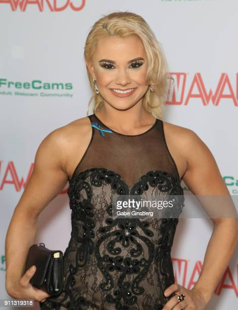 Adult film actress Maria Jade attends the 2018 Adult Video News Awards at the Hard Rock Hotel Casino on January 27 2018 in Las Vegas Nevada