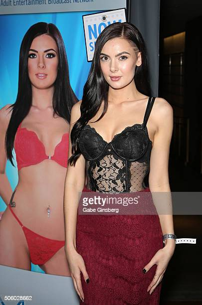 Adult film actress Marley Brinx attends the 2016 AVN Adult Entertainment Expo at the Hard Rock Hotel Casino on January 20 2016 in Las Vegas United...
