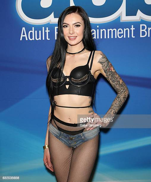 Adult film actress Marley Brinx attends the 2017 AVN Adult Entertainment Expo at the Hard Rock Hotel Casino on January 18 2017 in Las Vegas Nevada