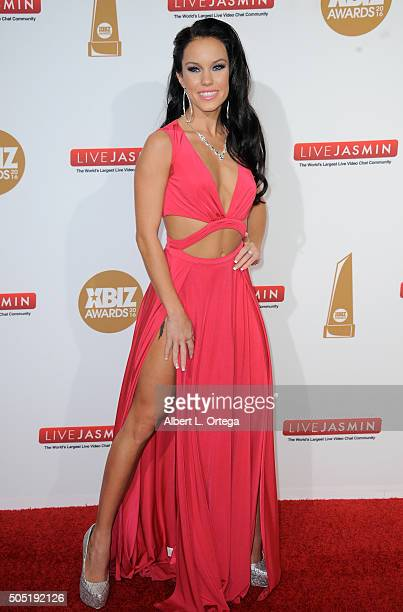 Adult film actress Megan Rain arrives for the 2016 XBIZ Awards held at JW Marriott Los Angeles at LA LIVE on January 15 2016 in Los Angeles California