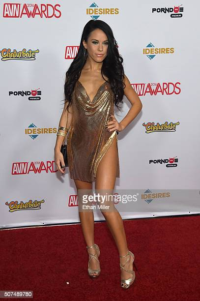 Adult film actress Megan Rain attends the 2016 Adult Video News Awards at the Hard Rock Hotel Casino on January 23 2016 in Las Vegas Nevada