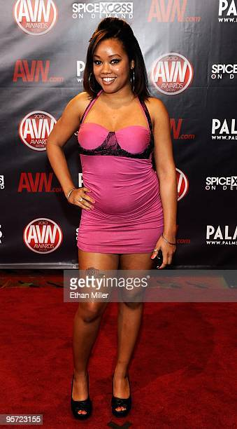 Adult Film Actress Melody Nakai Arrives At The 27th Annual Adult Video News Awards Show At
