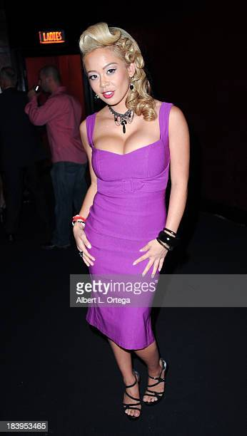 Adult film actress Mia Lelani arrives for The 1st Annual Sex Awards 2013 held at Avalon on October 9 2013 in Hollywood California