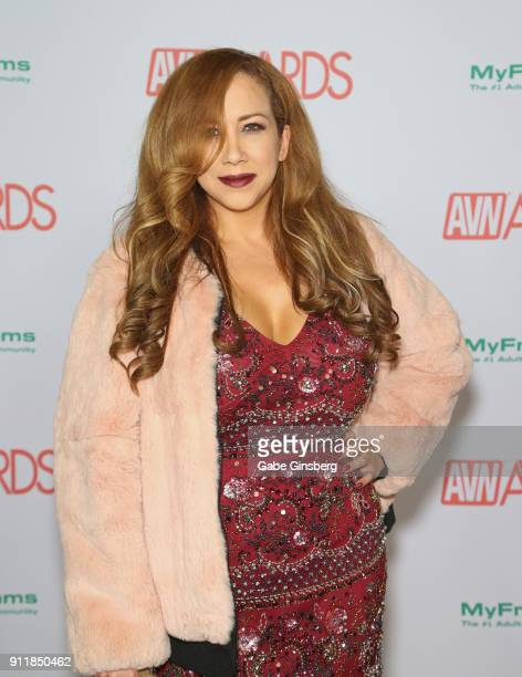 Adult film actress Michelle Honey attends the 2018 Adult Video News Awards at the Hard Rock Hotel Casino on January 27 2018 in Las Vegas Nevada
