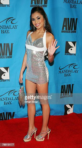 Adult film actress Michelle Maylene arrives at the 25th annual Adult Video News Awards Show at the Mandalay Bay Events Center January 12 2008 in Las...