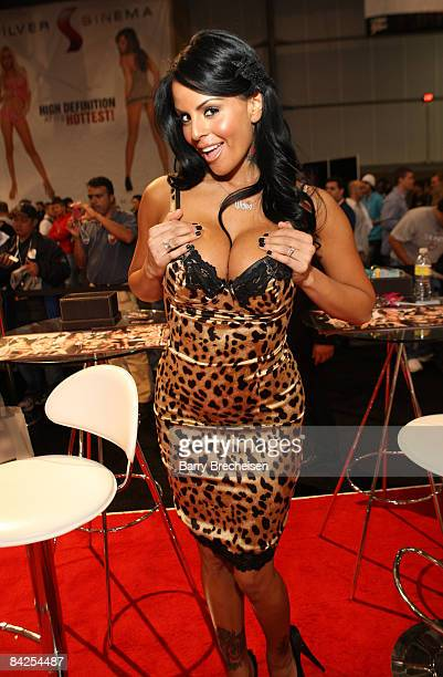 Adult Film Actress Mikayla Mendez Attends Day 2 Of The 2009 Avn Adult Entertainment Expo At