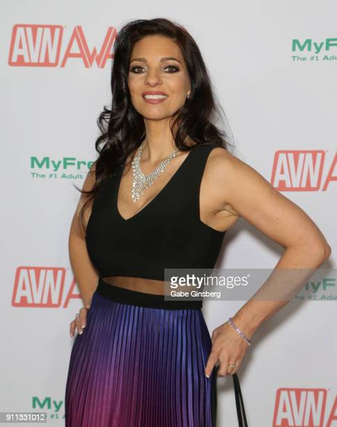 Adult film actress Mindi Mink attends the 2018 Adult Video News Awards at the Hard Rock Hotel Casino on January 27 2018 in Las Vegas Nevada