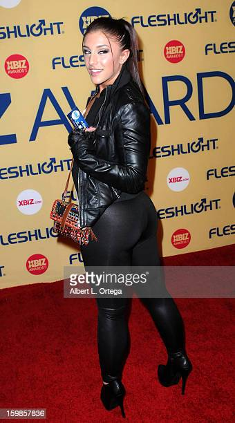 Adult Film actress Mischa Brooks arrives for the 2013 XBIZ Awards held at the Hyatt Regency Century Plaza on January 11 2013 in Century City...