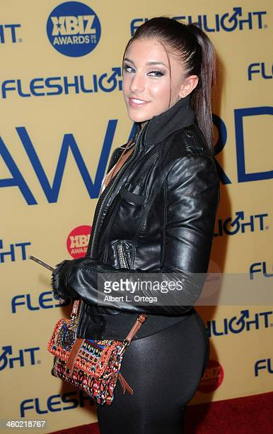 Adult film actress Mischa Brooks arrives for the 2013 XBIZ Awards held at the Hyatt Regency Century Plaza on January 11 2013 in Century City...