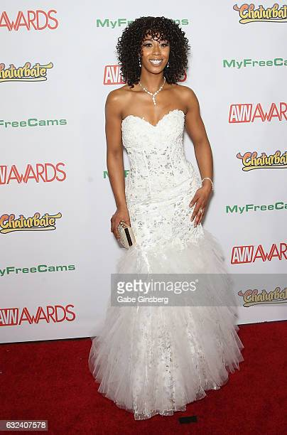 Adult film actress Misty Stone attends the 2017 Adult Video News Awards at the Hard Rock Hotel Casino on January 21 2017 in Las Vegas Nevada