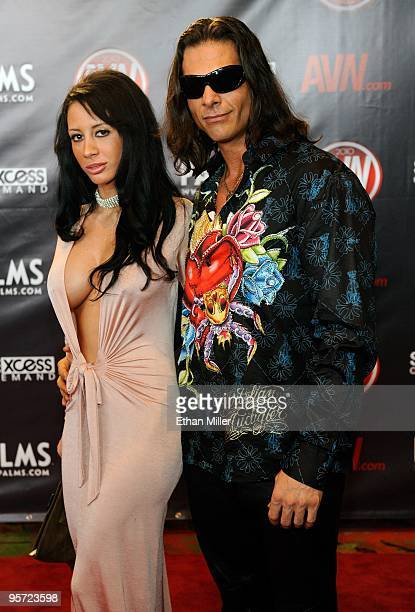 Adult film actress Mya Nichole and adult film actor Nick Manning arrive at the 27th annual Adult Video News Awards Show at the Palms Casino Resort...