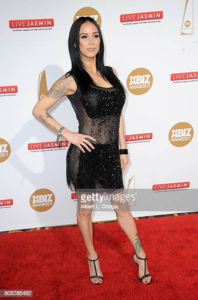 Adult Film Actress Nadia Styles Arrives For The 2016 Xbiz Awards Held At Jw Marriott Los