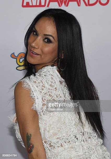 Adult Film Actress Nadia Styles Attends The 2016 Adult Video News Awards At The Hard Rock