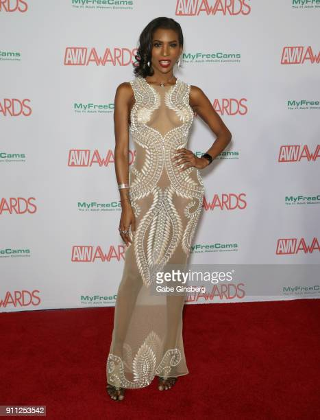 Adult film actress Natassia Dreams attends the 2018 Adult Video News Awards at the Hard Rock Hotel Casino on January 27 2018 in Las Vegas Nevada