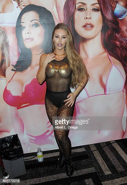 Adult film actress Nicole Aniston attends the 2017 AVN Adult Entertainment Expo at the Hard Rock Hotel Casino on January 20 2017 in Las Vegas Nevada