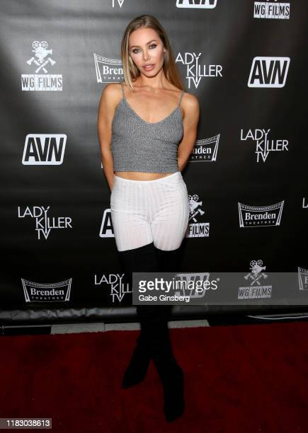 Adult film actress Nicole Aniston attends the world premiere of the film LadyKillerTV at the Brenden Theatres inside Palms Casino Resort on October...