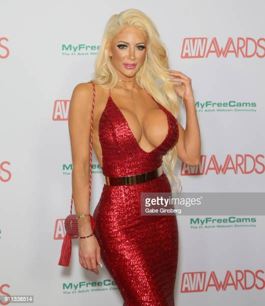 Adult film actress Nicolette Shea attends the 2018 Adult Video News Awards at the Hard Rock Hotel Casino on January 27 2018 in Las Vegas Nevada