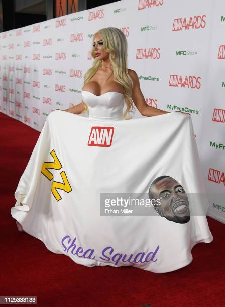 Adult film actress Nicolette Shea attends the 2019 Adult Video News Awards at The Joint inside the Hard Rock Hotel & Casino on January 26, 2019 in...