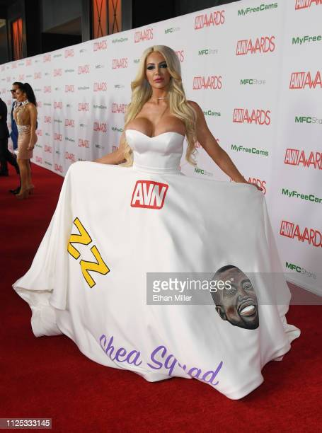 Adult film actress Nicolette Shea attends the 2019 Adult Video News Awards at The Joint inside the Hard Rock Hotel Casino on January 26 2019 in Las...