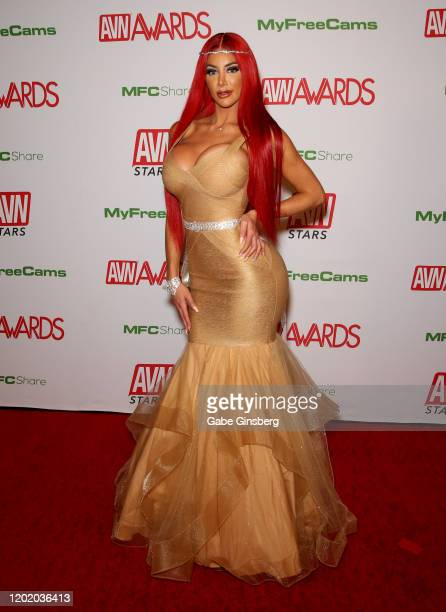 Adult film actress Nicolette Shea attends the 2020 Adult Video News Awards at The Joint inside the Hard Rock Hotel Casino on January 25 2020 in Las...