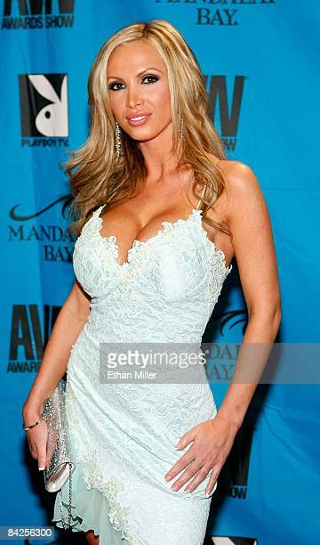 Adult film actress Nikki Benz arrives at the 26th annual Adult Video News Awards Show at the Mandalay Bay Events Center January 10 2009 in Las Vegas...
