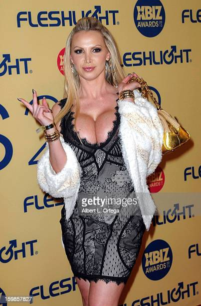 Adult film actress Nikki Benz arrives for the 2013 XBIZ Awards held at the Hyatt Regency Century Plaza on January 11 2013 in Century City California