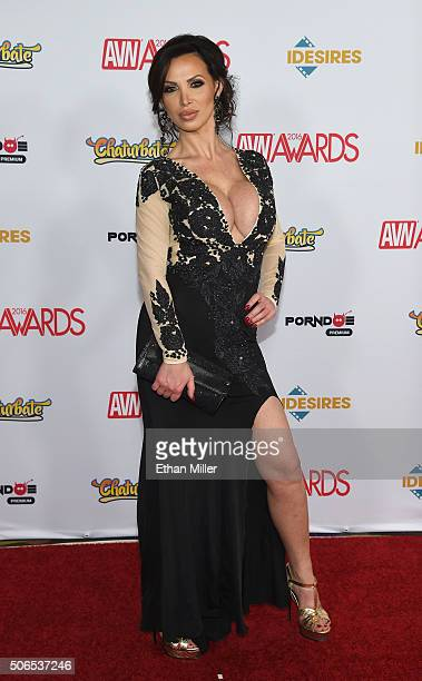 Adult film actress Nikki Benz attends the 2016 Adult Video News Awards at the Hard Rock Hotel Casino on January 23 2016 in Las Vegas Nevada