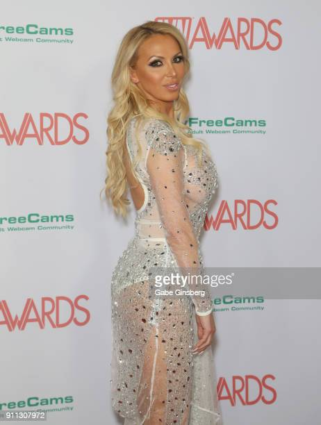 Adult film actress Nikki Benz attends the 2018 Adult Video News Awards at the Hard Rock Hotel Casino on January 27 2018 in Las Vegas Nevada