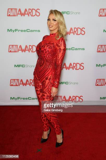Adult film actress Nikki Benz attends the 2019 Adult Video News Awards at The Joint inside the Hard Rock Hotel Casino on January 26 2019 in Las Vegas...