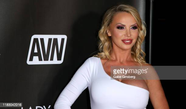 Adult film actress Nikki Benz attends the world premiere of the film LadyKillerTV at the Brenden Theatres inside Palms Casino Resort on October 23...