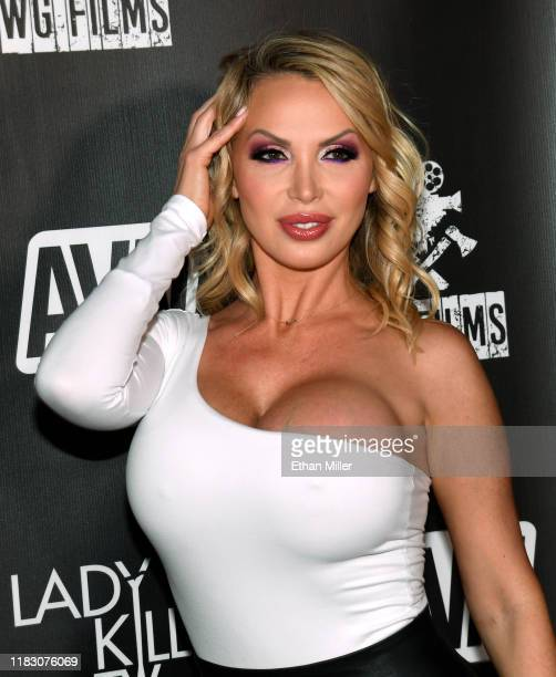"Adult film actress Nikki Benz attends the world premiere of the film ""LadyKillerTV"" at the Brenden Theatres inside Palms Casino Resort on October 23,..."