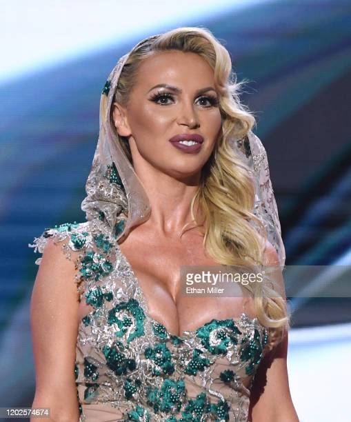 Adult film actress Nikki Benz hosts the 2020 Adult Video News Awards at The Joint inside the Hard Rock Hotel Casino on January 25 2020 in Las Vegas...