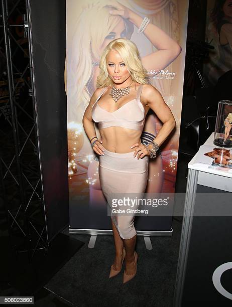 Adult film actress Nikki Delano attends the 2016 AVN Adult Entertainment Expo at the Hard Rock Hotel Casino on January 20 2016 in Las Vegas United...