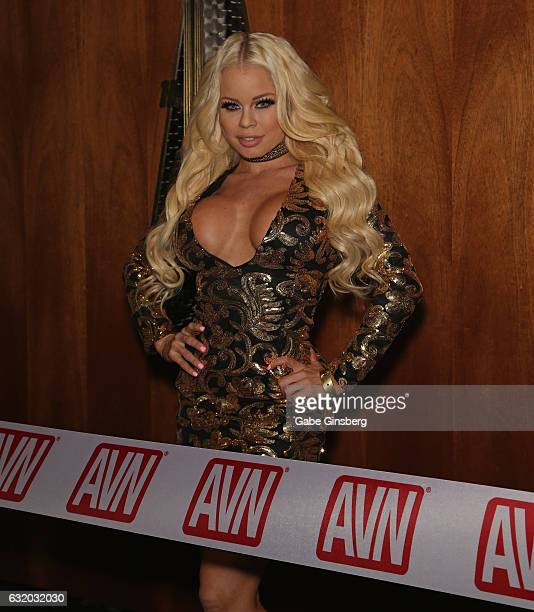 Adult film actress Nikki Delano attends the 2017 AVN Adult Entertainment Expo at the Hard Rock Hotel Casino on January 18 2017 in Las Vegas Nevada