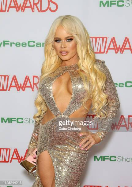 Adult film actress Nikki Delano attends the 2019 Adult Video News Awards at The Joint inside the Hard Rock Hotel Casino on January 26 2019 in Las...