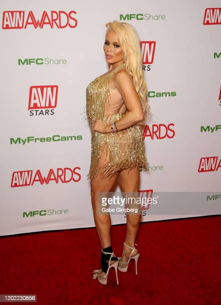 Adult film actress Nikki Delano attends the 2020 Adult Video News Awards at The Joint inside the Hard Rock Hotel Casino on January 25 2020 in Las...