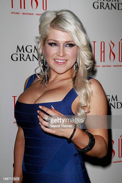 Adult film actress Nikki Phoenix hosts a preAVN Awards party at Tabu inside the MGM Grand on January 18 2013 in Las Vegas Nevada