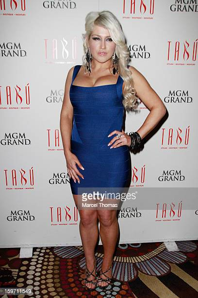 Adult film actress Nikki Phoenix hosts a pre-AVN Awards party at Tabu inside the MGM Grand on January 18, 2013 in Las Vegas, Nevada.
