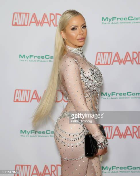 Adult film actress Nina Elle attends the 2018 Adult Video News Awards at the Hard Rock Hotel Casino on January 27 2018 in Las Vegas Nevada